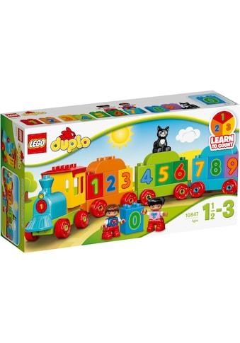 LEGO® Konstruktionsspielsteine »Zahlenzug (10847), LEGO® DUPLO®«, (23 St.), Made in... kaufen