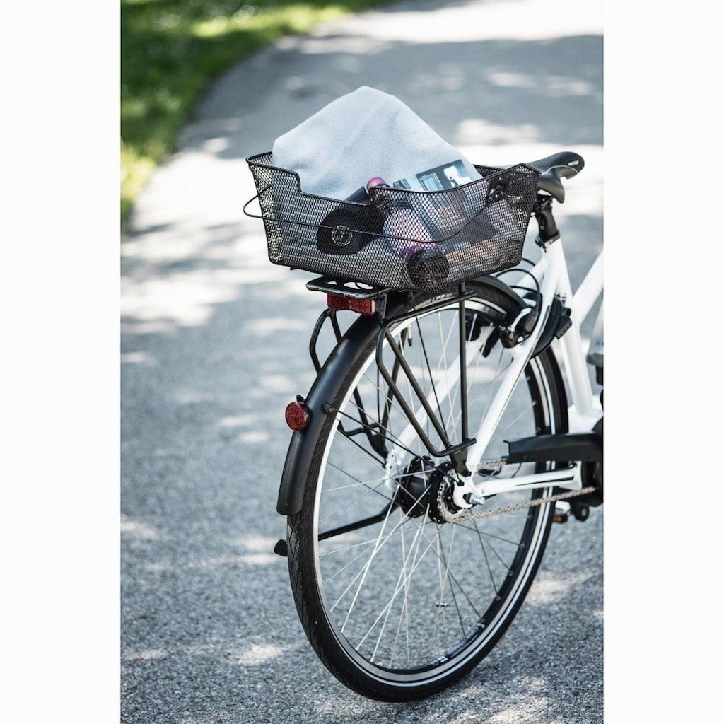 Hama Fahrradkorb für Gepäckträger hinten, abnehmbar, engmaschig