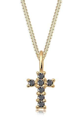 Elli DIAMONDS Kette mit Anhänger »Kreuz, 0102630218«, mit Diamanten kaufen