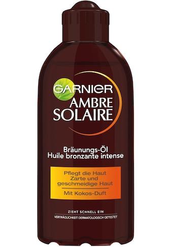 GARNIER Sonnenschutzöl »Ambre Solaire Tiefbraun Bräunung« kaufen