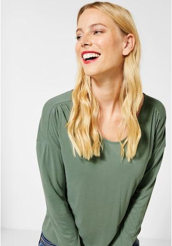 STREET ONE Langarmshirt, im Silk Look kaufen