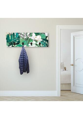 Artland Garderobenpaneel »Dschungelblätter«, platzsparende Wandgarderobe aus Holz mit... kaufen