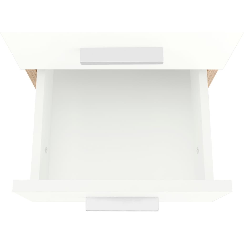 Schildmeyer Hochschrank »Lagona«, Breite 30,3 cm, wechselbarer Türanschlag, Metallgriffe, verstellbare Einlegeböden