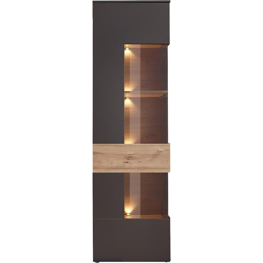 FORTE Vitrine, Höhe 203 cm, inkl. Beleuchtung