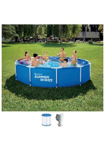 SummerWaves Rundpool »Active«, (Set, 3 tlg.), ØxH: 366x76 cm kaufen