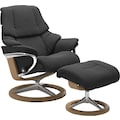 Stressless® Relaxsessel »Reno«, mit Hocker, mit Signature Base, Größe S, M & L, Gestell Eiche