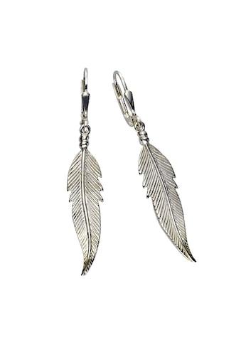 Zeeme Paar Ohrhänger »925/- Sterling Silber Feder«, rhodiniert kaufen