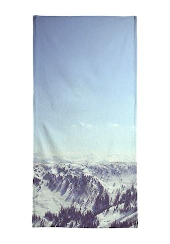 Juniqe Handtuch »The Alps 2«, (1 St.), Weiche Frottee-Veloursqualität kaufen
