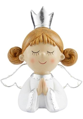 LED Dekofigur »Engel Sanje«, Warmweiß, mit beleuchteten Flügeln, Höhe ca. 24 cm kaufen