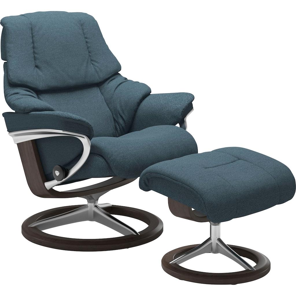 Stressless® Relaxsessel »Reno«, mit Hocker, mit Signature Base, Größe S, M & L, Gestell Wenge