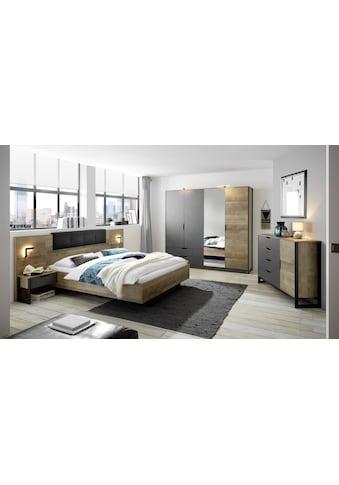 Places of Style Schlafzimmer-Set »Malthe«, (Set, 5 St., 2 Nachtkonsolen inkl.... kaufen