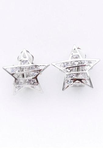 J.Jayz Paar Ohrclips »Sterne, glitzernd, rhodiniert« kaufen