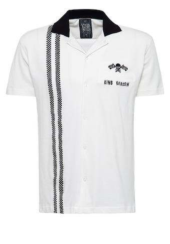 KingKerosin Kurzarmhemd, im Bowling Style mit Kontrastkragen kaufen