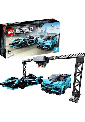LEGO® Konstruktionsspielsteine »Formula E Panasonic Jaguar Racing GEN2 car & Jaguar... kaufen