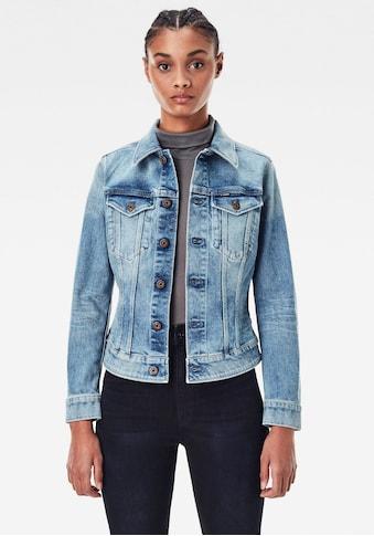 G-Star RAW Jeansjacke »3301 Slim Jacke«, Western-Brusttaschen mit Ösenknöpfen kaufen