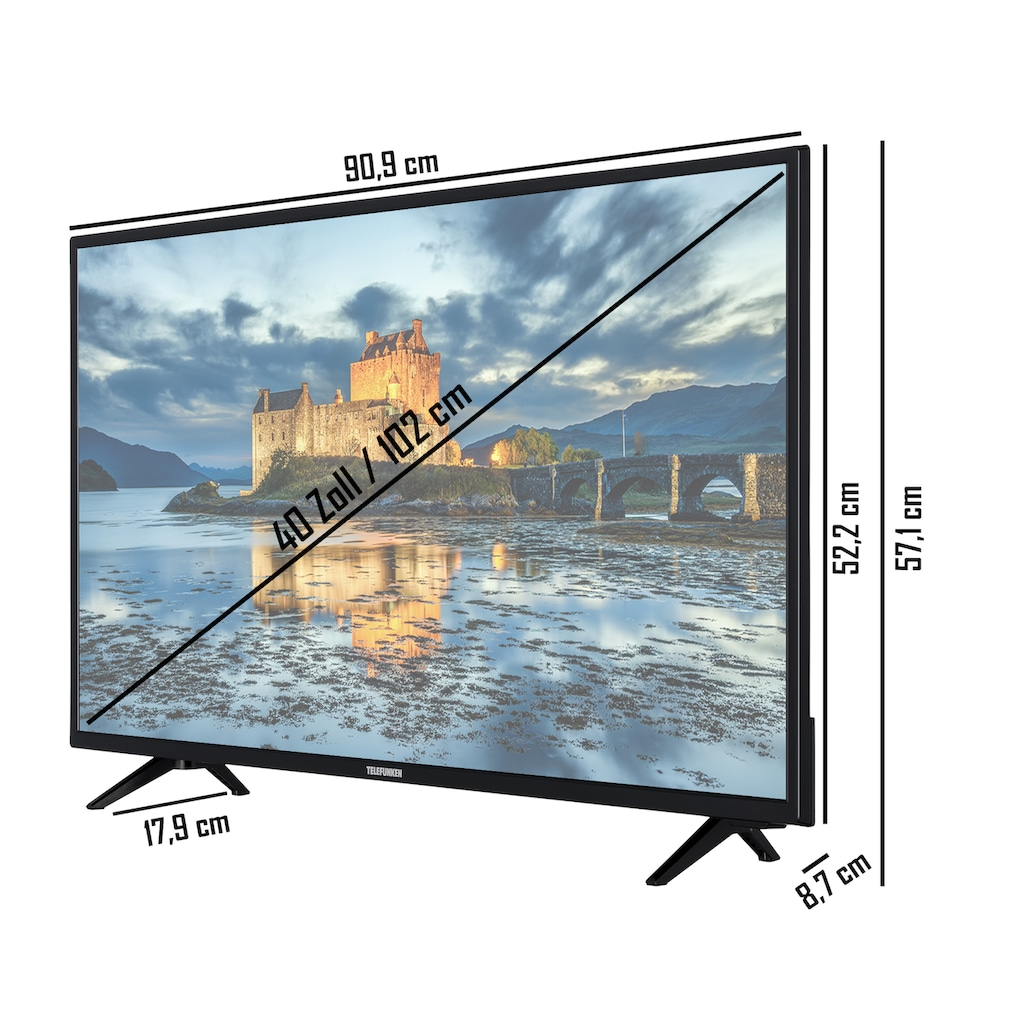 """Telefunken LED-Fernseher »XF40K511«, 102 cm/40 """", Full HD, Smart-TV"""