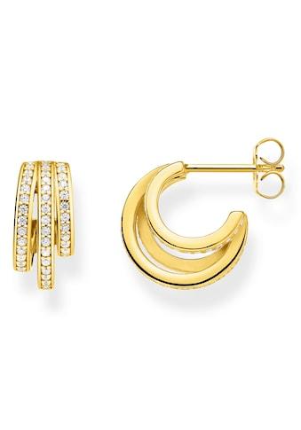 THOMAS SABO Paar Creolen »Ringe gold, CR652-414-14«, mit Zirkonia kaufen
