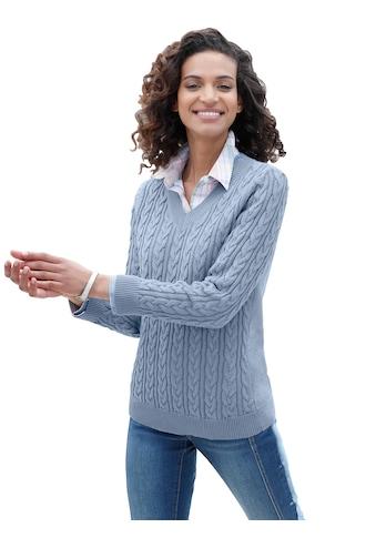 Pullover mit eingestricktem Zopfmuster kaufen