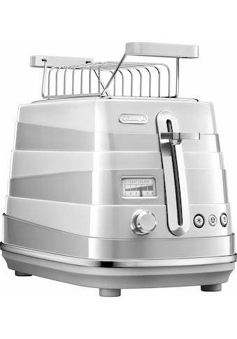 De'Longhi Toaster »Avvolta CTA 2103.W«, für 2 Scheiben, 900 Watt kaufen