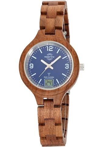 MASTER TIME Funkuhr »Specialist Wood, MTLW-10748-31W« kaufen