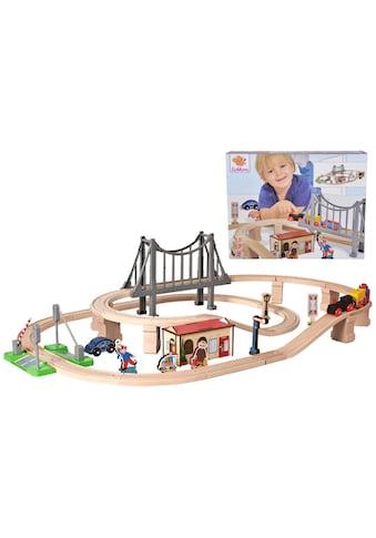 Eichhorn Spielzeug-Eisenbahn »Bahnset mit Brücke, 54-tlg.«, aus Holz; Made in Europe,... kaufen