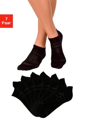 LASCANA ACTIVE Sneakersocken, (7 Paar), in Piqué-Optik kaufen