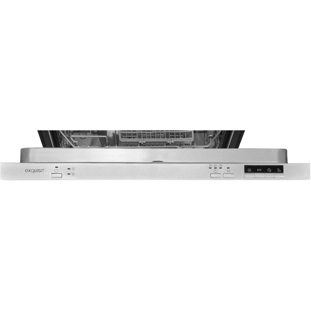 exquisit vollintegrierbarer Geschirrspüler »EGSP6012-E-030E silber«, EGSP6012-E-030E silber, 11 l, 12 Maßgedecke