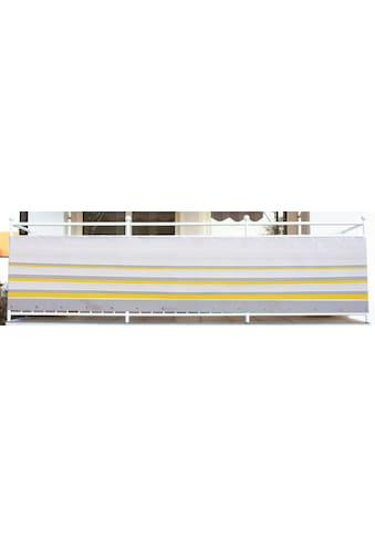 Angerer Freizeitmöbel Balkonsichtschutz »Nr. 600«, Meterware, gelb/grau, H: 75 cm kaufen