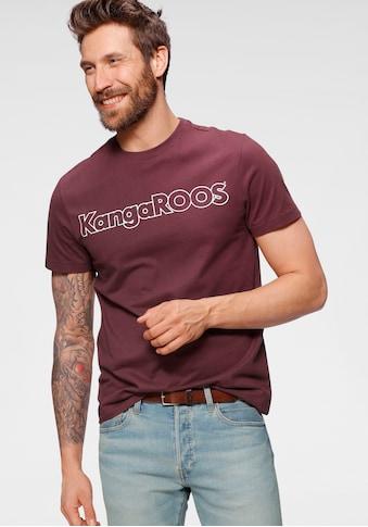 KangaROOS Rundhalsshirt, mit Logoprint kaufen