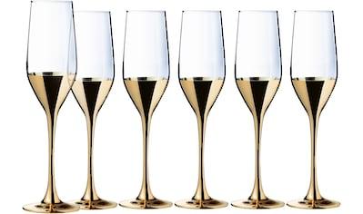 Leonique Sektglas »Donella«, (Set, 6 tlg.), mit hochwertigem Golddekor, 6-teilig kaufen