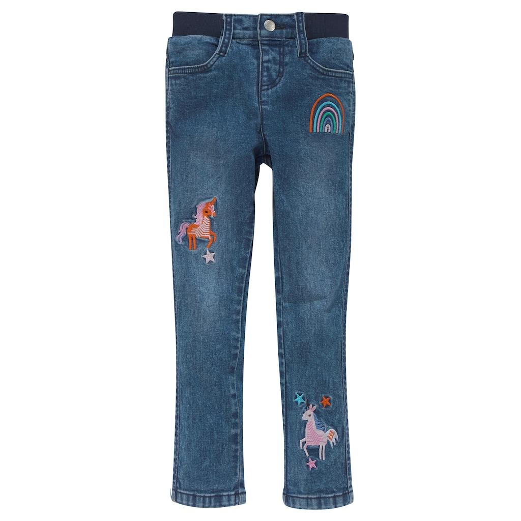 KIDSWORLD Stretch-Jeans, mit toller Stickerei
