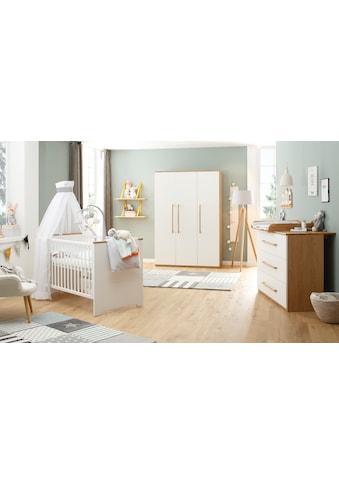 Lüttenhütt Baby Babyzimmer-Komplettset »Lauris, weiß/eiche«, (Set, 3 St.), FSC®-Holz... kaufen