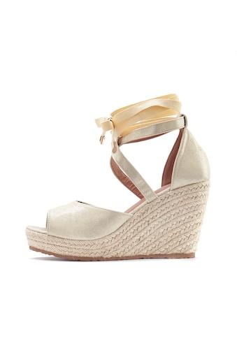 LASCANA High-Heel-Sandalette, mit Keilabsatz im Espadrille-Look kaufen