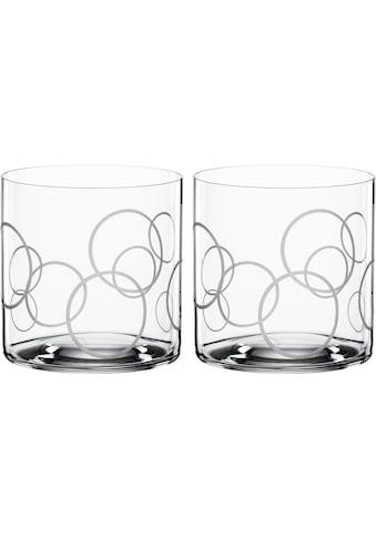 SPIEGELAU Tumbler-Glas »Circles«, (Set, 2 tlg.), Dekor graviert, 340 ml, 2-teilig kaufen