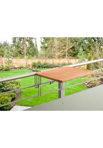 MERXX Balkonhängetisch »Holz«, für den Balkon geeignet, 60x40 cm kaufen