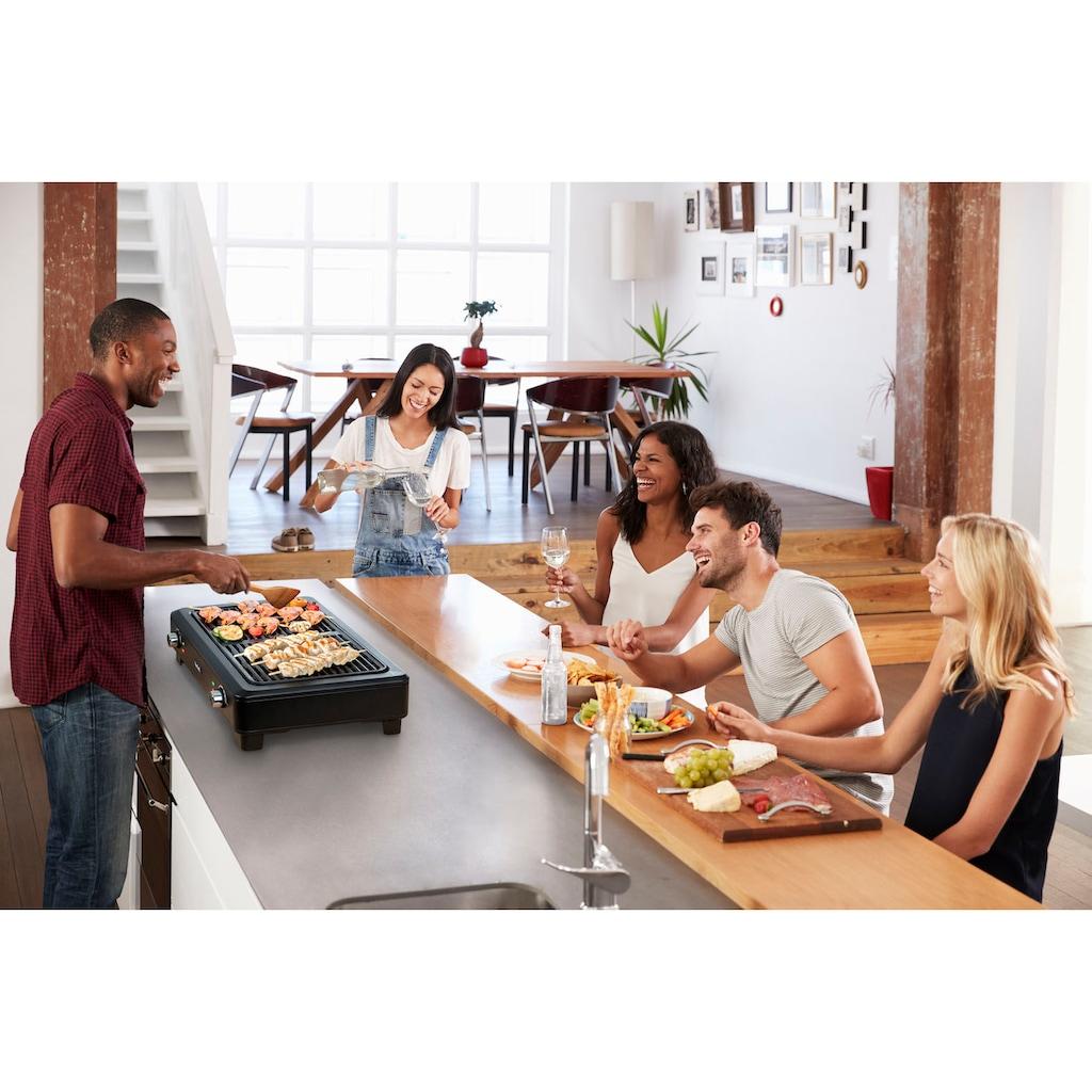 Tefal Tischgrill »TG9008 Smokeless Grill«, 2000 W, Elektrischer indoor BBQ Tischgrill, Wenig Rauch und Geruchsbildung, Thermostate mit 5 Einstellungen