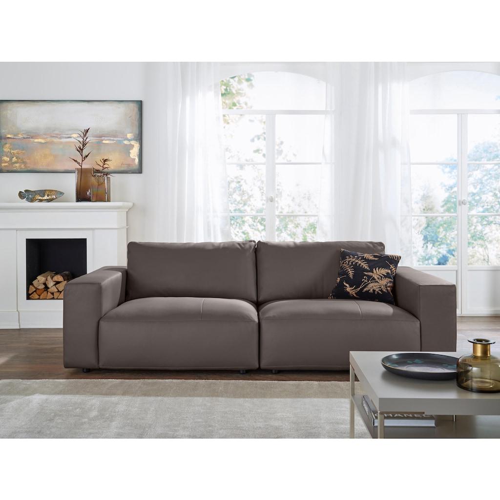 GALLERY M Big-Sofa »Lucia«, in vielen Qualitäten und 4 unterschiedlichen Nähten, 2,5-Sitzer