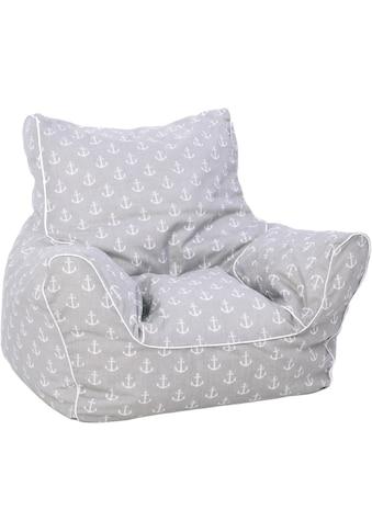Knorrtoys® Sitzsack »Maritim Grey«, für Kinder; Made in Europe kaufen