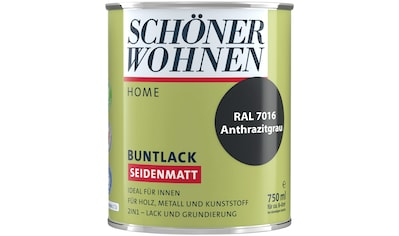 SCHÖNER WOHNEN-Kollektion Lack »Home Buntlack«, seidenmatt, 750 ml, anthrazitgrau RAL... kaufen