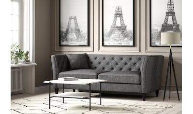 ATLANTIC home collection 3-Sitzer, Chesterfield Sofa, extra weich und kuschelig,... kaufen