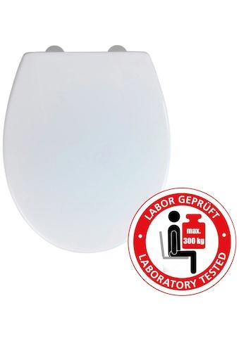 WENKO WC-Sitz »Korfu«, Thermoplast weiß, mit Absenkautomatik, bis 300 kg belastbar kaufen