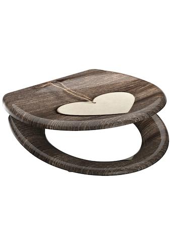 Schütte WC-Sitz »Wood Heart«, mit Absenkautomatik kaufen