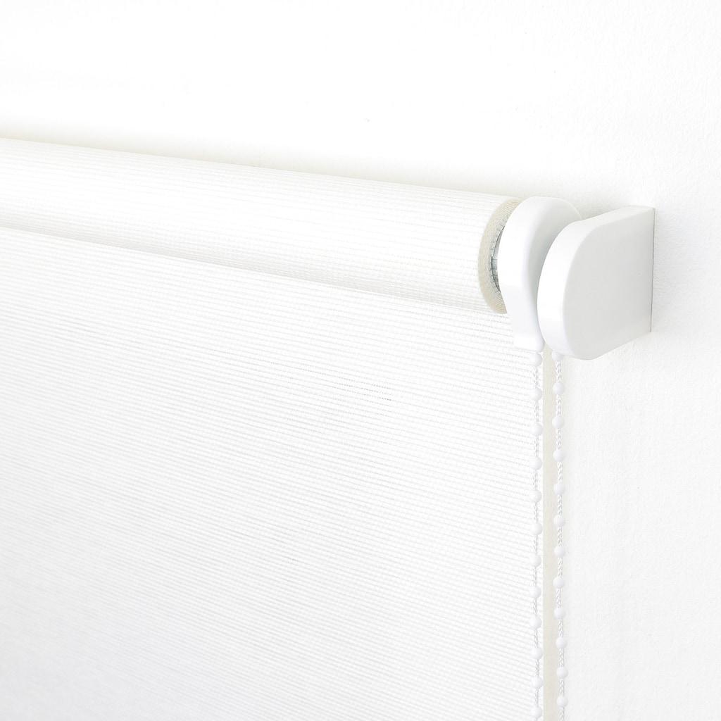 Liedeco Seitenzugrollo »Dekor Struktur«, Lichtschutz, ohne Bohren