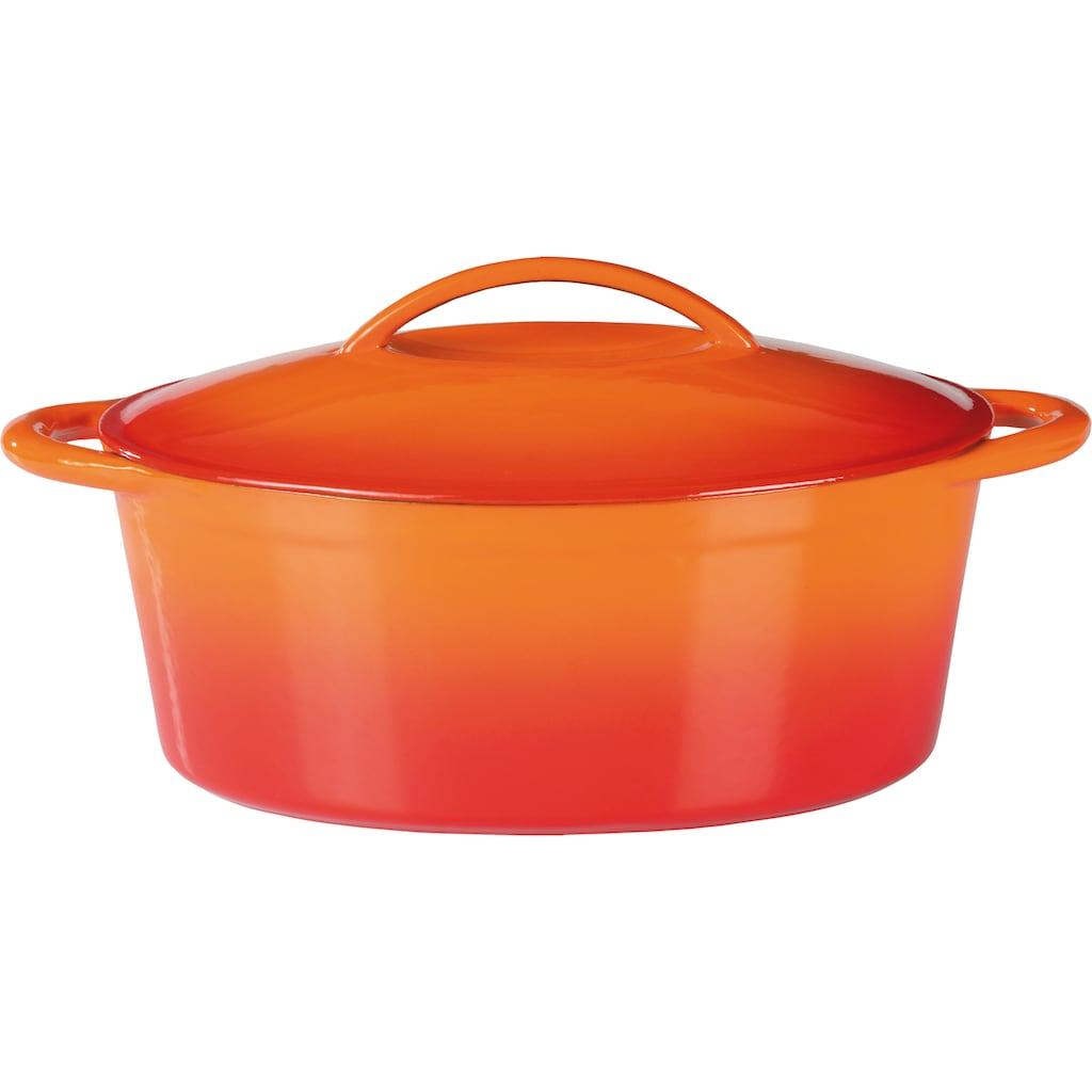 GSW Bräter »Orange Shadow«, Gusseisen, (1 tlg.), 7 Liter, Induktion