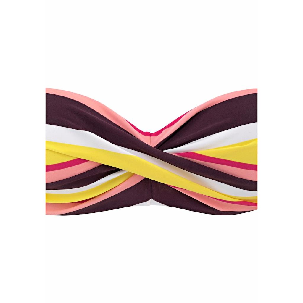 Buffalo Bügel-Bandeau-Bikini, mit farbenfrohen Streifen