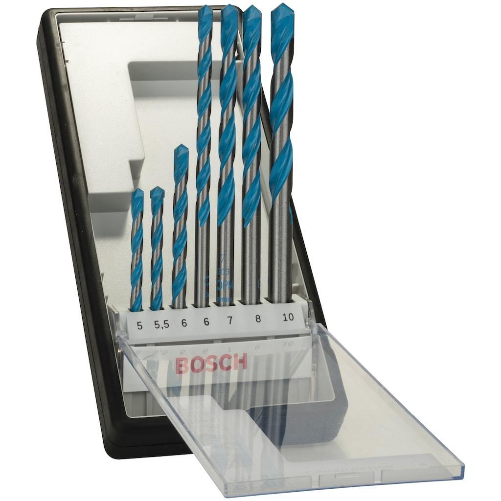 BOSCH Bohrersatz »Robust Line CYL-9 Multi Construction«, (7 tlg.), Mehrzweckbohrer-Set