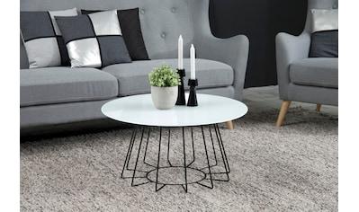 andas Couchtisch »Carola«, mit einer Tischplatte aus Glas und einem schönen... kaufen