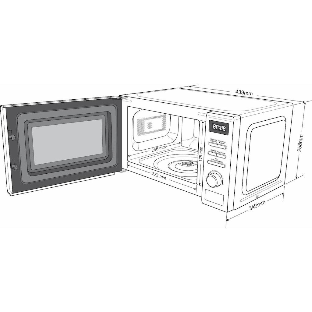 Hanseatic Mikrowelle »819021«, Grill, 700 W, schwarz