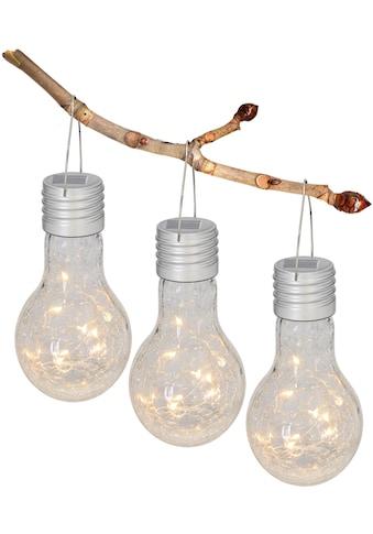 näve LED Gartenleuchte, LED-Board, Warmweiß, Solarleuchte aus Glas in Glühbirnenform kaufen