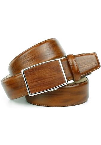 Anthoni Crown Ledergürtel, Automatische Schließe in glänzender Verarbeitung kaufen